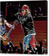 Axl Rose and Slash Guns N Roses Canvas Print