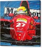 Ayrton Senna Ferrari 27 Canvas Print