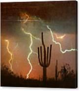 Az Saguaro Lightning Storm Canvas Print