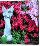 Azalea Garden Angel Canvas Print