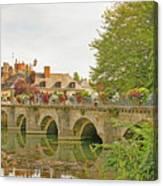 Azay Le Rideau Bridge, Boys Fishing Canvas Print