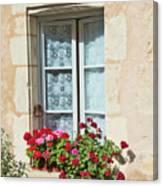 Azay Le Rideau Bridge, Window, Lace Canvas Print