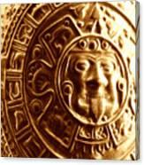 Aztec Gold Photograph Canvas Print
