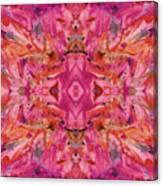 Aztec Kaleidoscope - Pattern 009 - Crimson Canvas Print