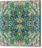 Aztec Kaleidoscope - Pattern 018 - Earth Canvas Print