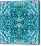 Aztec Kaleidoscope - Pattern 018 - Ocean Canvas Print
