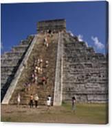 Aztec Pyramid Near Mexico City Canvas Print