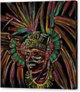 Aztec Skull Warrior Canvas Print