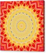 Aztec Sunburst Canvas Print