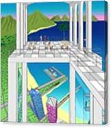 Azure Bay Canvas Print