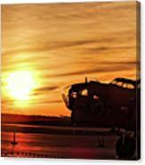 B 17 At Sunset Canvas Print