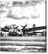 B-17 Bomber Fueling Up In Hdr Canvas Print
