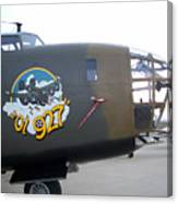B-24 Nose Art Canvas Print