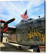 B-24j Witchcraft Wwii Canvas Print