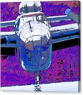 B-25 Blue Purple Canvas Print