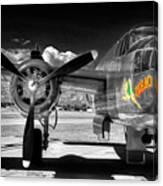 B-25 Mitchell Infrared Canvas Print