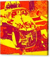 B-25 Red Yellow Canvas Print