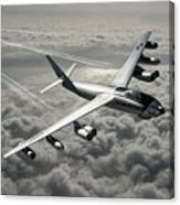 B-47e Stratojet With Contrails Canvas Print