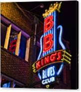 B B Kings On Beale Street Canvas Print