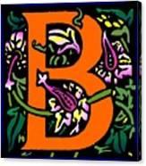 B In Orange Canvas Print
