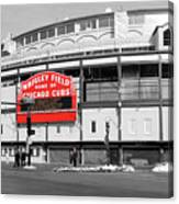 B-w Wrigley 100 Years Young Canvas Print