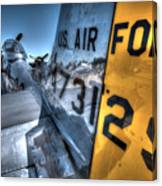 B17 And Her P51 Mustang Escort Sit Ready Canvas Print