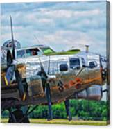 B17 Bomber Side View Canvas Print