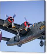 B24 Liberator Landing At Livermore Canvas Print