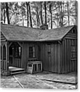 Babcock State Park Cabin - Paint Bw Canvas Print