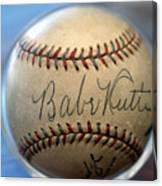 Babe Ruth Baseball. Canvas Print