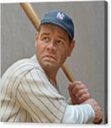 Babe Ruth Statue Canvas Print