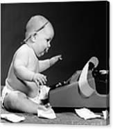 Baby Accountant Canvas Print