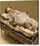 Baby Jesus In Lace Canvas Print