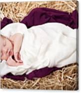 Baby Jesus Nativity Canvas Print