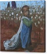 Baby Picking Cotton Canvas Print