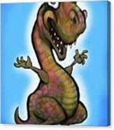 Baby T-rex Blue Canvas Print
