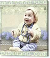 Baby Wears Beads Canvas Print