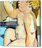 Babys Bath Canvas Print