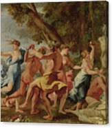 Bacchanal Before A Herm Canvas Print