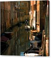 Back Canal In Venice Canvas Print