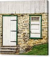 Back Entrance To An 1803 Amish Corn Barn  -  1803pacornbarn172779 Canvas Print