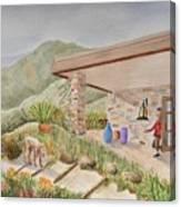 Back Patio Canvas Print
