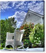 Back Porch In Summer Canvas Print