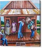 Back Porch Jamming Canvas Print