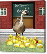 Back To School Little Duckies Canvas Print
