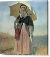 Back To The Holy Trinity 1870 Q D 25h19 Pm 7 Tg Vasily Perov Canvas Print