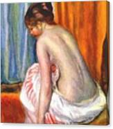 Back View Of A Bather 1893 Canvas Print
