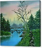 Back Woods Bridge Canvas Print