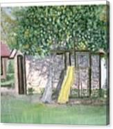 Back Yard Play   Canvas Print