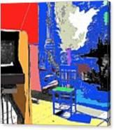 Backdrop  Traveling Tintype Photographer John A. Coffer  Tombstone Arizona 1980-2009 Canvas Print